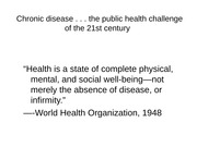 intro chronic disease