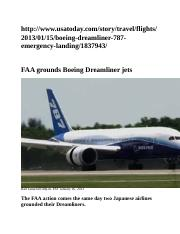 Boeing Dreamliner Article