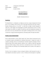 International Business Individual Assignment