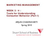 Marketing Management Lecture WEEK 3 FALL 2010 EVC HEDONIC REG ECON OPTIONAL