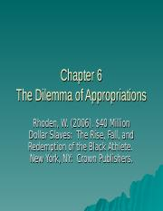Chapter 6 The Dilemma of Appropriation(1).ppt