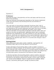 Unit 3 Assignment 1 accounting.docx
