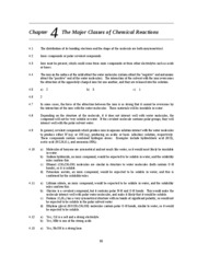 Chapter 4 The Major Classes of Chemical Reactions