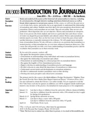 Intro to Journalism Syllabus S14