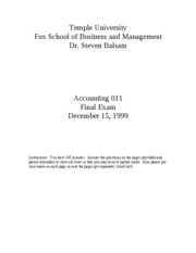 1999 Fall Accounting_011final_exam
