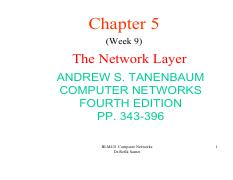 network layer pdf pdf - Chapter 5(Week 9 The Network Layer