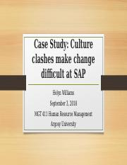 WilliamsH_M5A2_Case Study_Culture clashes make change difficult at SAP.ppt