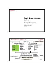 Topic 2-External environmental analysis