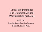 Linear Programming Graphical Solution Maximization Problem