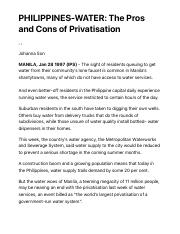 PHILIPPINES-WATER- The Pros and Cons of Privatisation | Inter Press Service.pdf