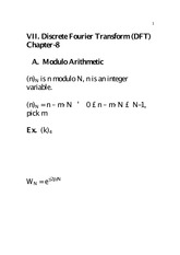 Lecture Notes (Chapter VII)