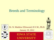 2012-01-18 Breeds and Terminology