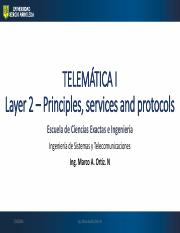 Lect_2_Layer 2 - PRINCIPLES  SERVICES  PROTOCOLS