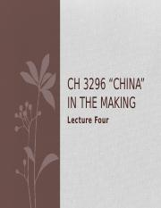 CH3296 Lecture 4