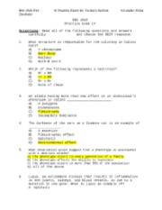 Practice Exam IV Dr. Tucker's Section Answer Key Modified