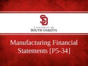 Manufacturing financial statements