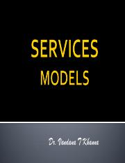 Services Marketing Models