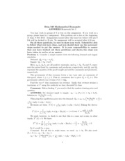 ANSWERS PROBLEM SET 2 ECON 348 W-2013