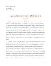 Assignment 4 Definition 1