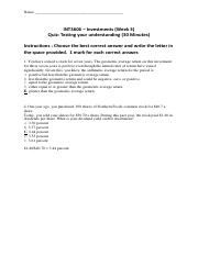 cohort 2 week 3 test paper with answers