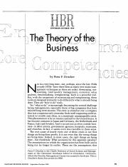 Article - Module 1 - Session 1 (The Theory Of The Business)