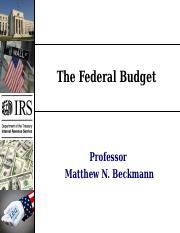 Day+15+-+The+Federal+Budget