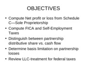 Taxes Fall 2013 Chapter 10 Flow through Entities(1)(1)