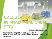 3- Calculations Used in Analytical Chemistry