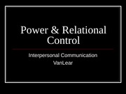 Power & Relational Control(1)