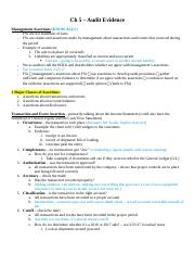 Ch 5 Notes - Audit Evidence.docx