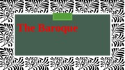 Baroque and Rococo Powerpoint
