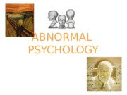 15. Abnormal Psychology(1)