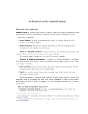 Ch2 An overview of the financial system