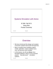 12 System Simulation with Arena 2013Handout