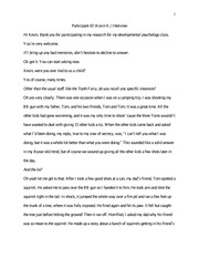 Creative Writing 5 Interview