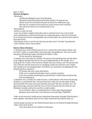 Western Religions - Introduction to Judaism Lecture Note