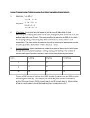 Linear Programming Problems using 3  Variables(2)