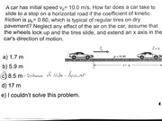 Distance of Slide - Question & Answer