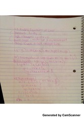 class notes finding equations of lines