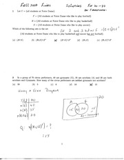 MATH 10120 Fall 2007 Final Exam Solutions