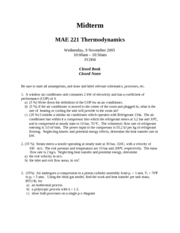 Thermo Midterm 2005