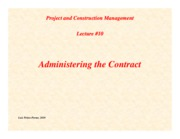 PCM-Lecture10-Administering-the-Contract