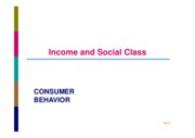 CB SESSION 10 INCOME AND SOCIAL CLASS