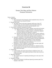 Study Guide Ch. 34 Europe New Ideas and New Nations