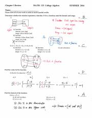 MATH 123 Chapter 3 Review Solutions