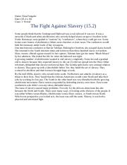 The Fight Against Slavery( essay 15.2)