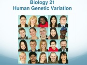 Genetic Variation (Lecture)
