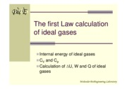6-The 1st law calculation of ideal gases