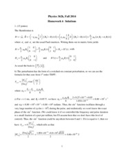 Phys 362k 2014 HW6 Solutions
