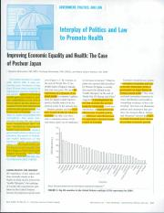 Interplay of Politics and Law to Promote Health